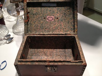 Deed box from Foxbank interior