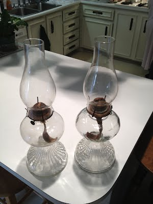 Oil lamps from Foxbank Plantation