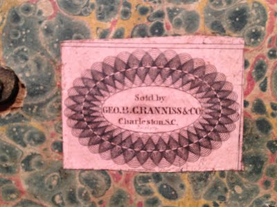 label inside deed box, from Foxbank